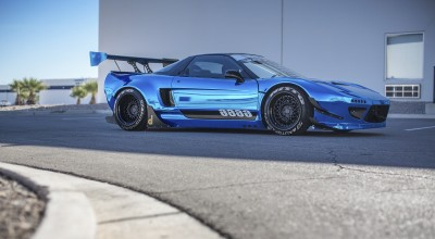 Metallic Blue Rocket Bunny NSX